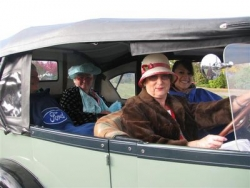 Anne and Elizabeth Ashby, Colleen Smith & Jos Costello participate int he Ladies section of the Rally at the Taupo National Model A Rally Easter 2009.JPG