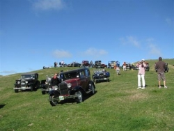 Cars that took part in the off road section of the Rally day at the Taupo National Model A Rally Easter 2009.JPG