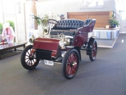 Roger Gardener from The Colonial Motor Company displayed their original 1903 Model A Ford at the Taupo National Model A Rally Easter 2009.JPG