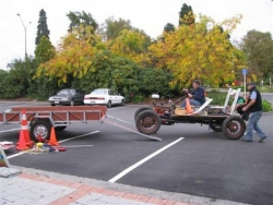 The Chassis event, completed the finished mobile Chassis is loaded for its return trip after the Taupo National Model A Rally Easter 2009.JPG
