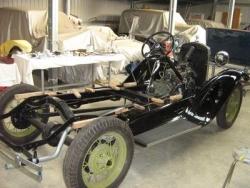 Gary Langstone's chassis awaits the body May 2011..JPG