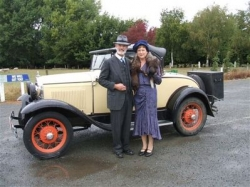 Murray and Anne Ashby dressed in era clothing at the Christchurch National rally Easter 2007..JPG