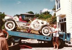 Rene Dunn alongside his 1928 Speedster in 1980..jpg