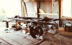 Paul Smith beginning restoration of an AA Truck, chassis in black 1981.jpg
