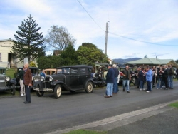Local News Reporters grouped all present in the street for photos at Aubrey Bateman's 94th Brithday run, Waihi, June 17 2007..jpg