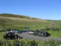 Model A Club cars at the Awhitu Lighhouse carpark..jpg