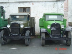 Rob & Trish Brown's adventure into Russia, these photos of GAZ A's, Model A Ford lookalikes manufactured using the Ford dies in Russia.2.JPG