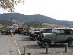 Some of the Cars who met at Ngaruawahaia for the Hamilton Zoo Run..jpg