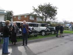 Some of the cars lined up for Aubrey Bateman 94th Birthday run in Waihi on June 17th 2007 2.jpg